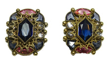 Load image into Gallery viewer, Art Deco 1930s Vintage Signed Sandor Multi-Color Crystals Earrings