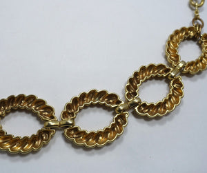 Vintage 1960s Gold Tone Large Ribbed Link Belt