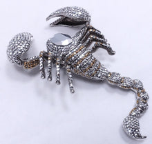 "Load image into Gallery viewer, Vintage Signed Butler & Wilson 4-1/2"" Scorpion Brooch"