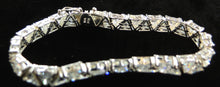 Load image into Gallery viewer, Clear CZs & Sterling Silver Tennis Bracelet