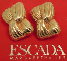 Load image into Gallery viewer, Vintage Margaretha Ley for Escada Gold-Tone Earrings