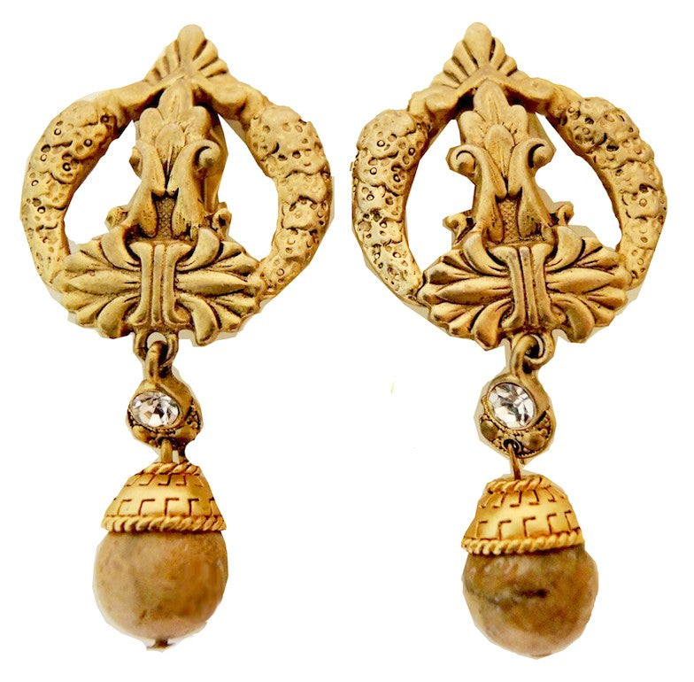 Vintage Deco Style Drop Earrings