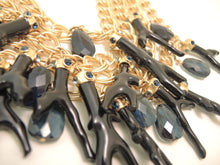 Load image into Gallery viewer, Vintage Signed Oscar de la Renta Multi-Strand Link Necklace