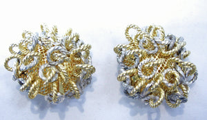 Vintage French Mixed-Metal Earrings