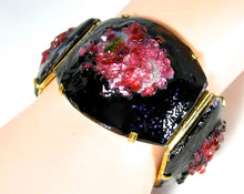 Load image into Gallery viewer, Vintage French? 50s Poured Glass Speckled Bracelet