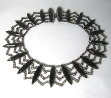 Load image into Gallery viewer, Vintage Rare Hattie Carnegie Black & Rhinestone Collar Necklace