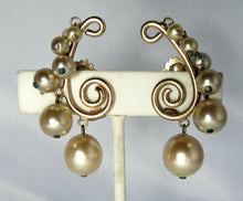Load image into Gallery viewer, Vintage Signed Castlecliff Faux Pearl Earrings