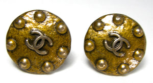 VINTAGE SIGNED CHANEL 97A CLIP EARRINGS  - JD10219