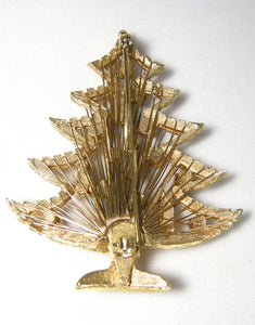 Vintage 1950s 4 Candles Christmas Tree Pin - JD10127