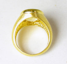"Load image into Gallery viewer, Made in ""Italy"" Sterling Silver & Gold Citrine Ring"