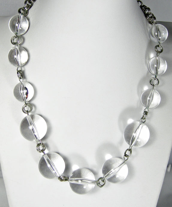 Vintage Lucite Ball Necklace