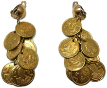 Load image into Gallery viewer, Vintage Multi-Coin Drop Earrings