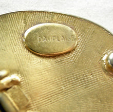 Load image into Gallery viewer, Vintage Large Signed Dauplaise Oval Earrings