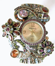 Load image into Gallery viewer, Signed Heidi Daus Multi-Color Crystal Bracelet With Working Watch