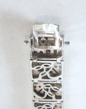 Load image into Gallery viewer, Sterling Silver Art Deco Style Crystal Bracelet