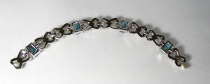 Vintage Art Deco Crystal and Faux Blue Sapphire Bracelet – Trifari?