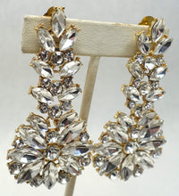 Load image into Gallery viewer, Vintage Signed DeMario Crystal Drop Earrings