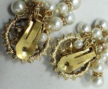 Load image into Gallery viewer, Vintage Signed DeMario Faux Pearl Dangling Earrings