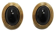 Load image into Gallery viewer, Vintage Signed Christian Dior Black & Gold Earrings