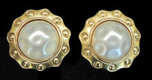 Load image into Gallery viewer, Vintage Signed Chanel France Faux Pearl Earrings