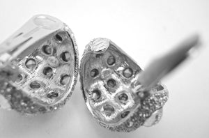 Kenneth Jay Lane Glitzy Crystal Clip Earrings