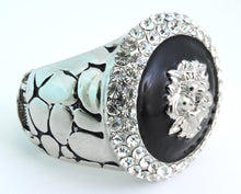 Load image into Gallery viewer, Dramatic WOW Lion's Head Crystal Cuff Bracelet