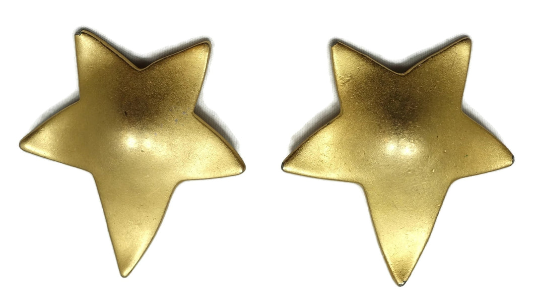 Vintage Signed Erwin Pearl Star Earrings