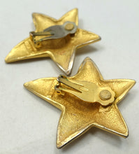Load image into Gallery viewer, Vintage Signed Erwin Pearl Star Earrings