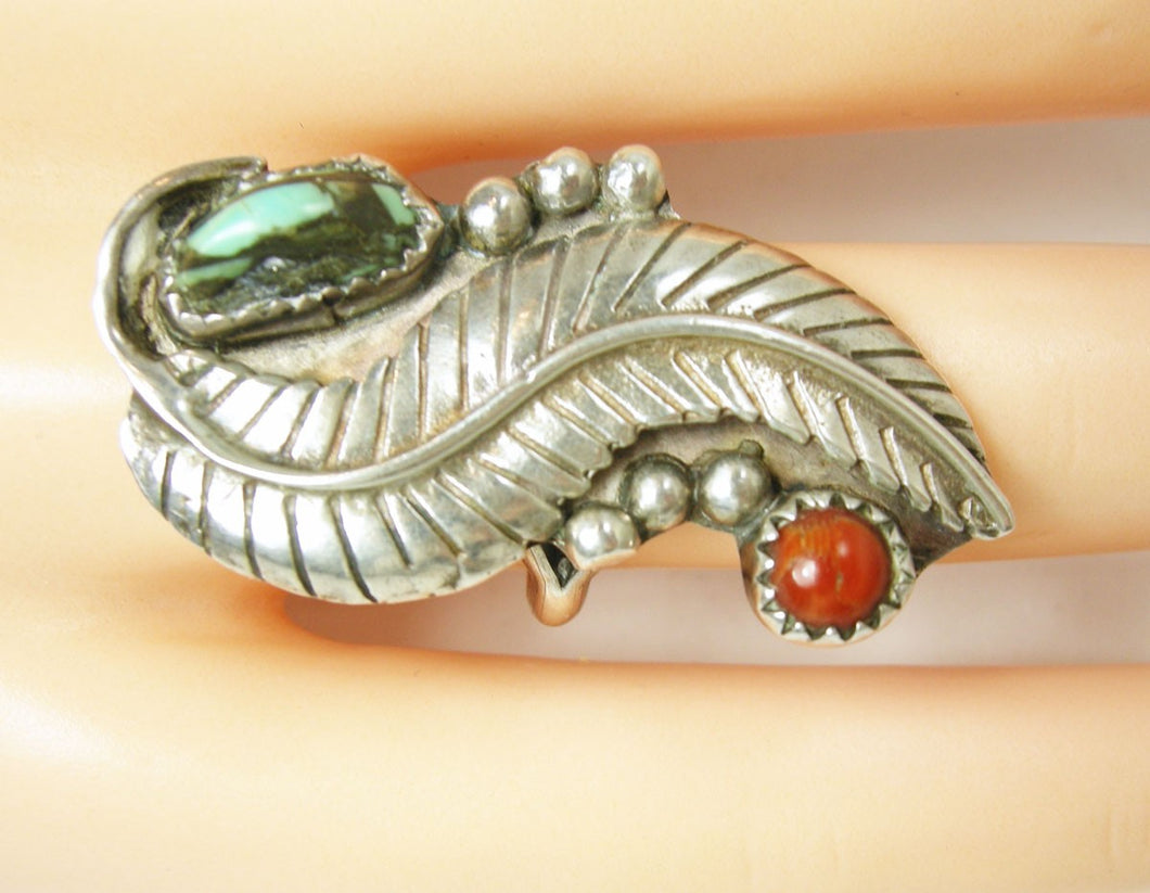 Vintage American Indian Feather Ring