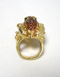 Beautiful Crystal Frog Ring - JD10193