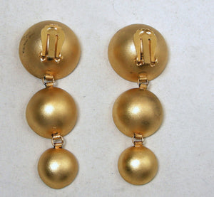 Vintage Victor Carranza Drop Earrings
