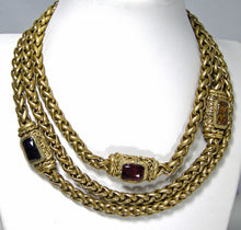 Load image into Gallery viewer, Vintage Signed Chanel Chain Choker With Gripoix Medallions 1983 - JD10225