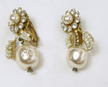 Load image into Gallery viewer, Vintage Signed Miriam Haskell Faux Pearl Earrings