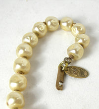 Load image into Gallery viewer, Early Haskell Faux Baroque Pearl Drop Necklace