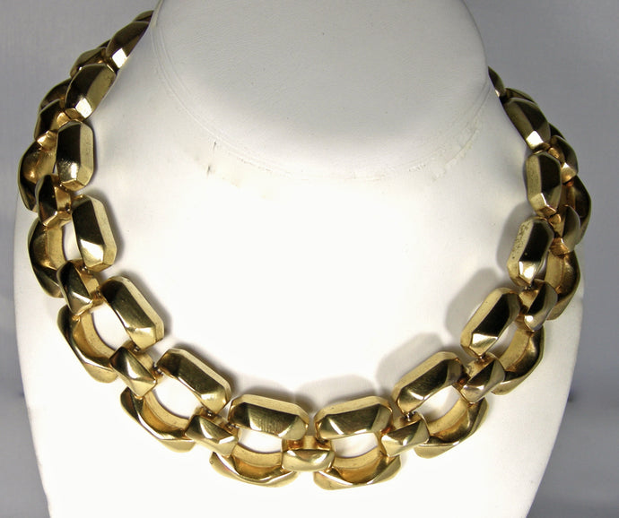 Vintage 70s Heavy Open Link Necklace