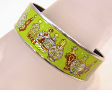 Load image into Gallery viewer, Hermes Lime Color Enamel Bangle Bracelet