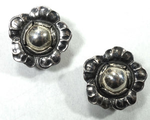 Vintage Signed Georg Jensen 2002 Sterling Silver Earrings