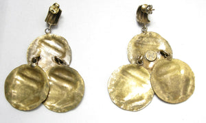 "Vintage Signed ""Joseff"" Coin Dangling Earrings"