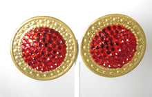 Load image into Gallery viewer, Vintage Richard Kerr 1960s Large Red Earrings