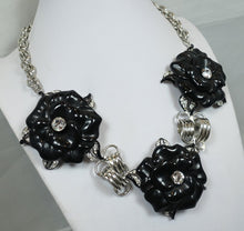 Load image into Gallery viewer, Signed Kenneth J. Lane Floral Necklace