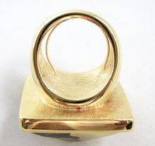 Load image into Gallery viewer, Kenneth Jay Lane Black-Gold Pyramid Ring