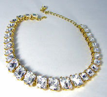 Load image into Gallery viewer, Signed Kenneth Jay Lane Sparkling Crystal Necklace - JD10183