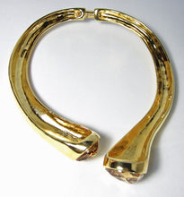 Load image into Gallery viewer, Kenneth Jay Lane Gold Double Stone Choker - JD10124