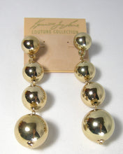 Load image into Gallery viewer, Kenneth Jay Lane Gold Tone Balls Dangling Pierced Earrings - JD10114
