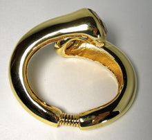 Load image into Gallery viewer, Kenneth Jay Lane Gold Hinged Clamper Bracelet - JD10123