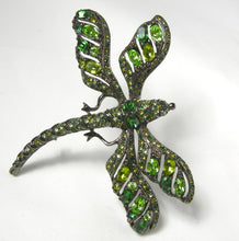 Load image into Gallery viewer, Kenneth Jay Lane Green Rhinestone Dragonfly Brooch