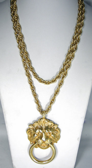 Kenneth Jay Lane Huge Lion Necklace - JD10105