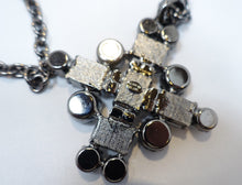 Load image into Gallery viewer, Signed Kenneth Jay Lane Crystal Maltese Cross Pendant Necklace