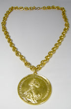 Load image into Gallery viewer, Kenneth Jay Lane Large Coin Pendant Necklace - JD10144