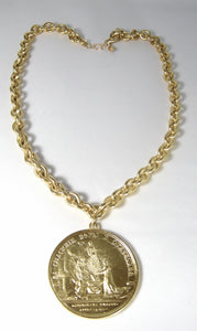 Kenneth Jay Lane Large Coin Pendant Necklace - JD10144